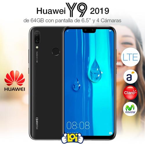 huawei y9 2019 6.5' octa core 64gb 3gb 4 cámaras oferta loi