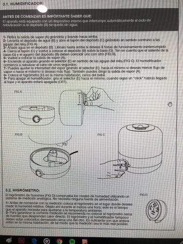 humidificador en frío + higrómetro suavinex