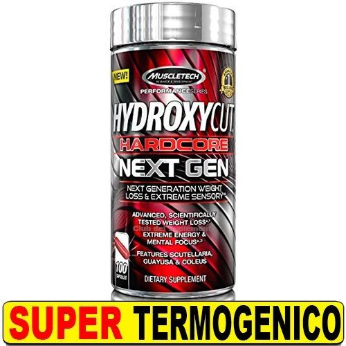 hydroxycut hc nueva generación muscletech 100 caps