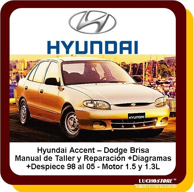 Hyundai Accent Brisa 98 05 Manual Taller Servicio Diagramas