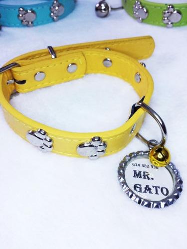 identificación mascota collar placa