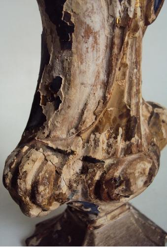 imagem nossa senhora antiga século xix  madeira olhos vidro