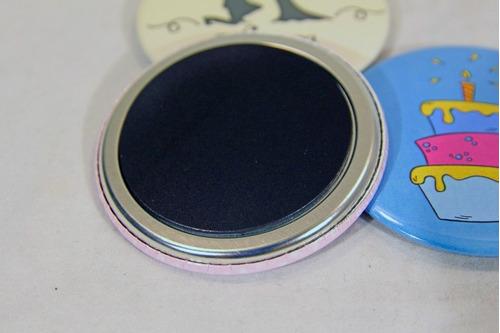 imanes de metal con goma - 5,8 cm - impre$ionante