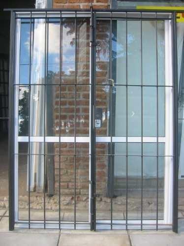 imperdible oferta puerta ventana en aluminio con reja On oferta ventanas aluminio