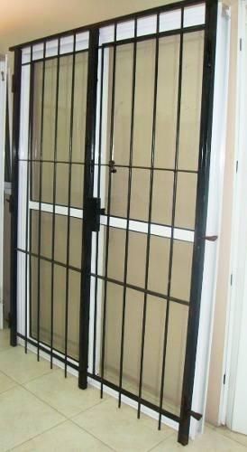 imperdible oferta puerta ventana en aluminio con reja