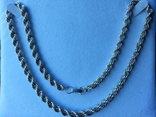 importante cadena tourbillón en plata 925