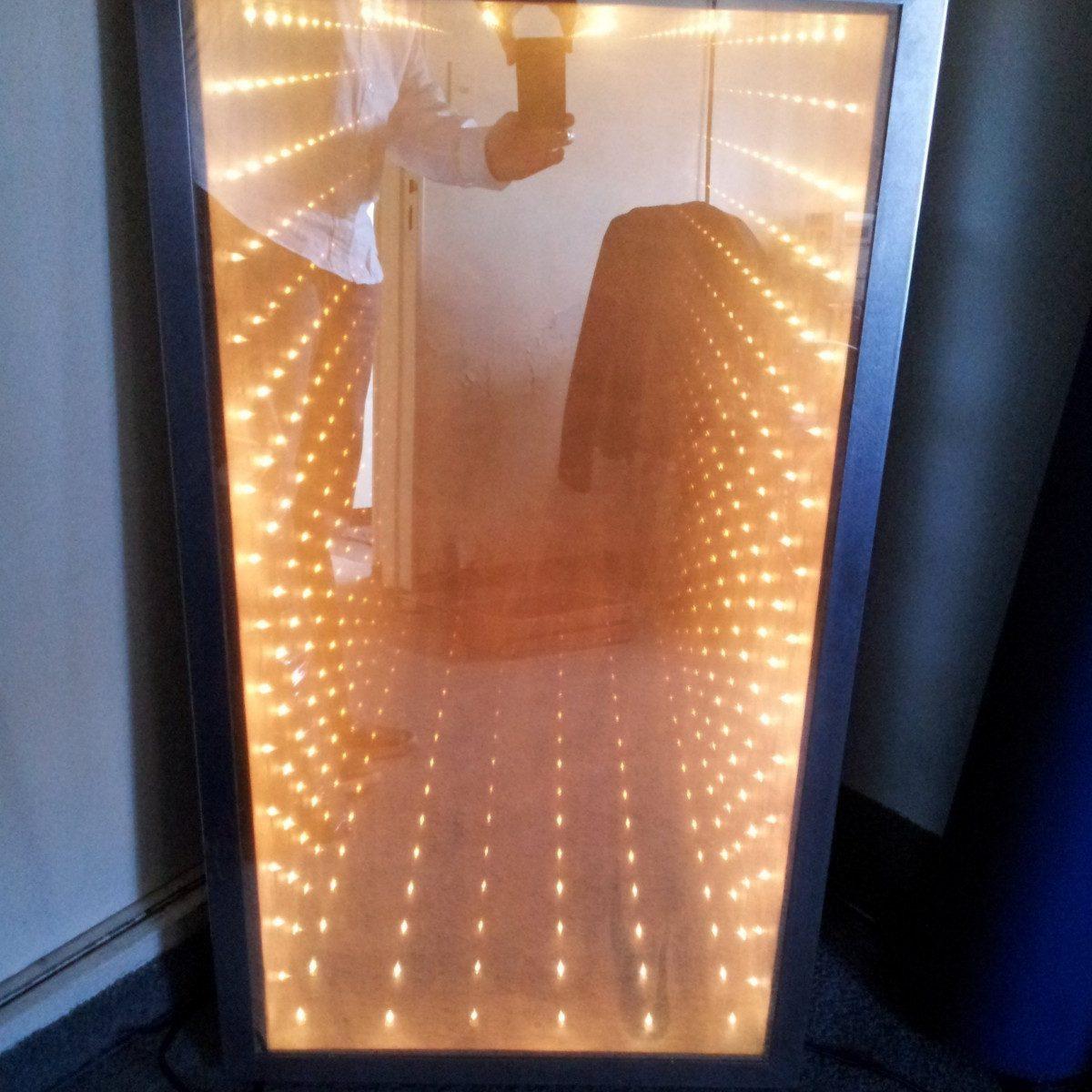 Importante Espejo Retro Marco Metalico Interior Con Luces - $ 4.500 ...