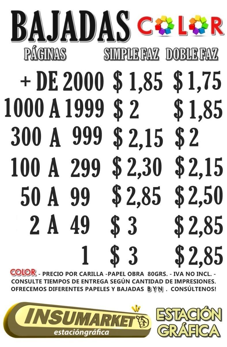 Impresión Color Sf A4 80g 25 Copias Brochure Full Color 100% - $ 250 ...