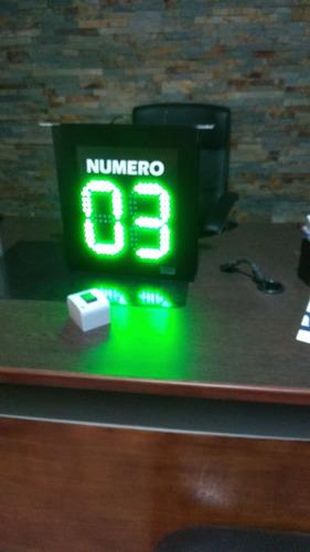 indicador de turno led , relojes , tableros , pasantes