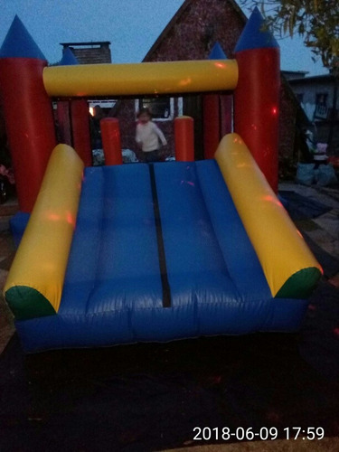 inflable cama elastica algodon dulce globologia caras pintad