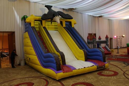 inflable castillo rampa tobogan toro mecánico cumpleaño
