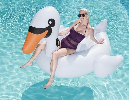inflable piscina cisne gigante adulto bestway hts
