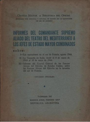 informes del comandante supremo aliado...a los jefes estado