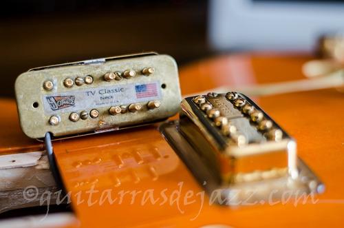 instalación de micrófonos pasivos en guitarras y bajos.