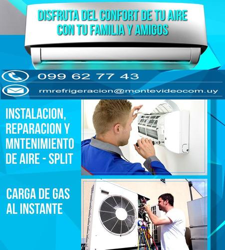 instalación reparación traslados carga  aire acondicionado