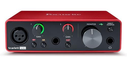 interfase de audio focusrite scarlett solo 3ra generacion