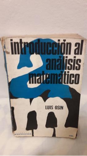 introduccion al analisis matematico de luis osin