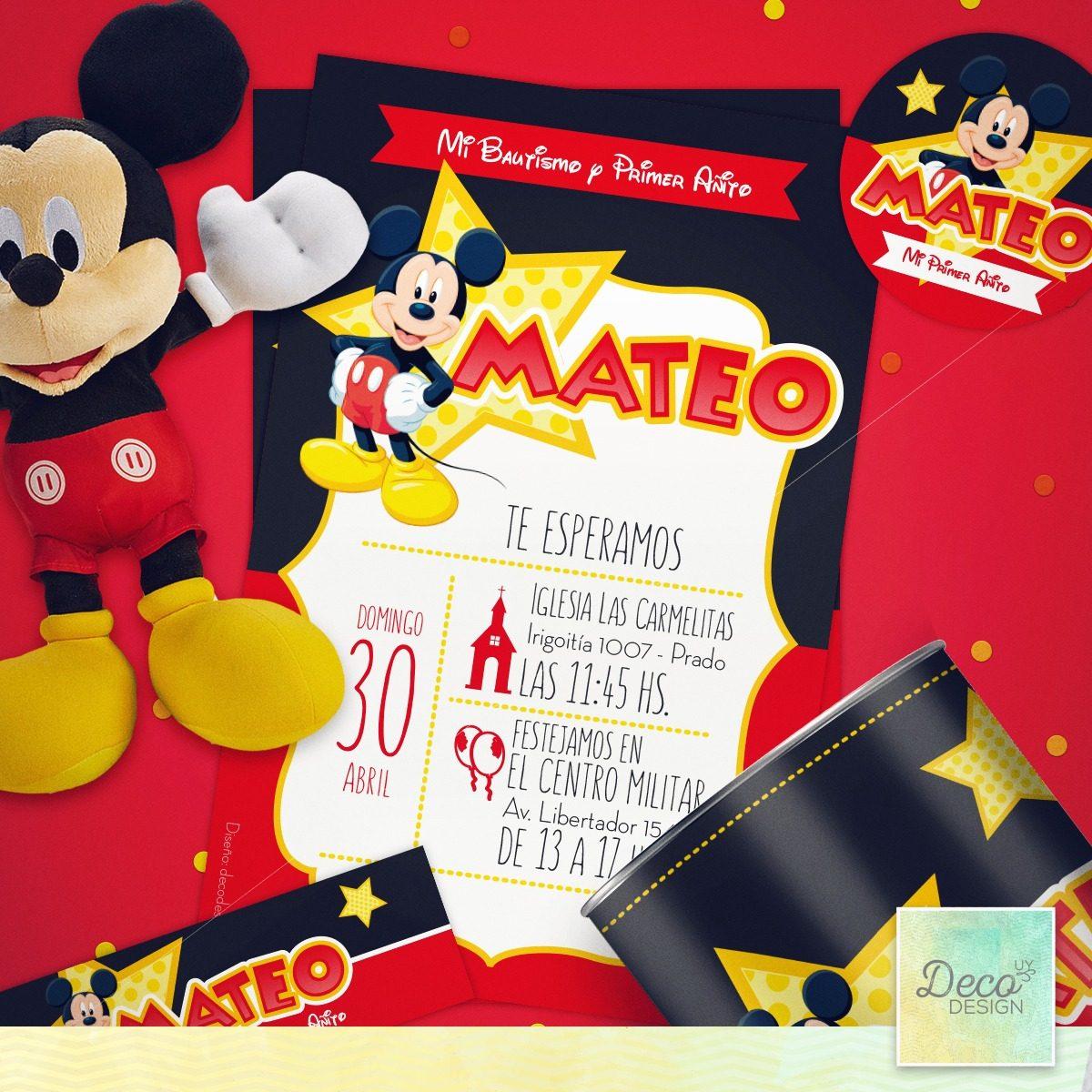 Tarjetas De Cumpleanos Con Mickey Mouse