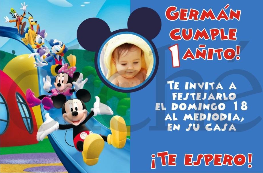 Invitacion Imanes Souvenir Imprimibles Digital Mickey Mouse