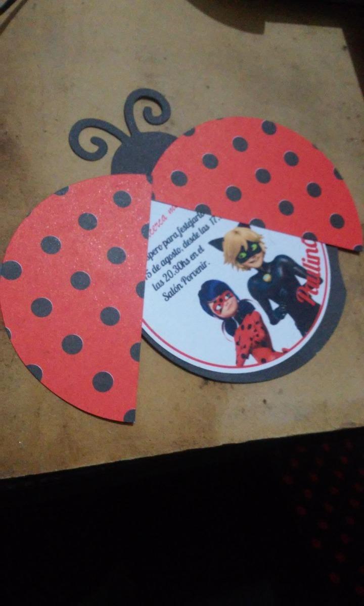 Invitacion Infantil Ladybug