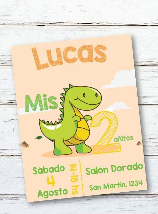 Invitacion Tarjeta Dinosaurios