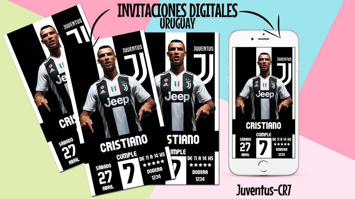Invitacion Tarjeta Juventus Digital Cumpleaños