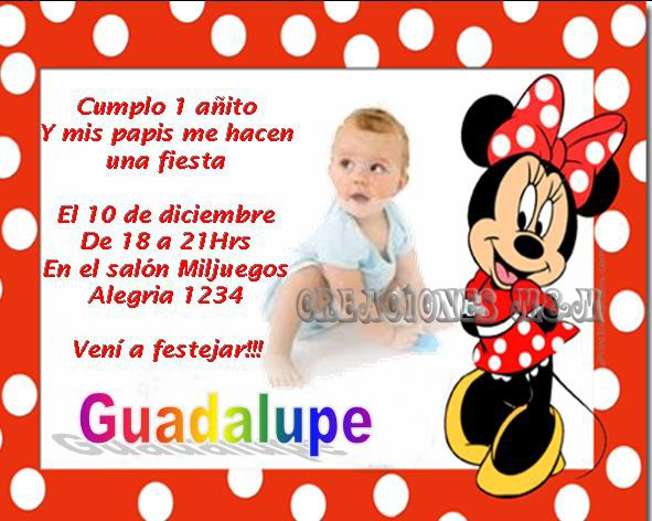 Invitaciones Infantiles Personalizadas Tarjetas