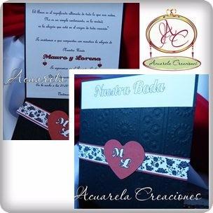 invitaciones-tarjetas, boda, quince- acuarela creaciones