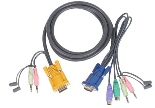 iogear micro lite bonded all in one ps 2 vga kvm cable