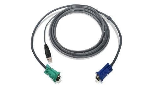 iogear usb kvm bonded cable 10 feet with usb and vga