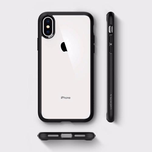 iphone xs max spigen ultra hybrid 360 con vidrio templado