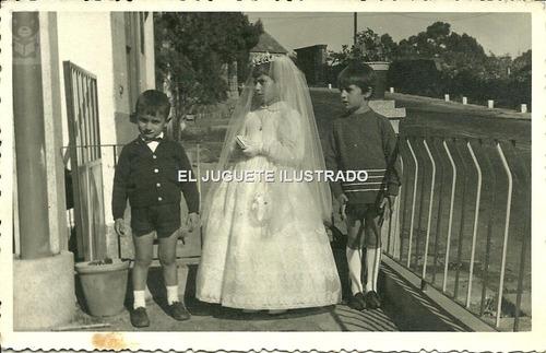 ir04 foto primera comunion 1964 antigua religion infantil