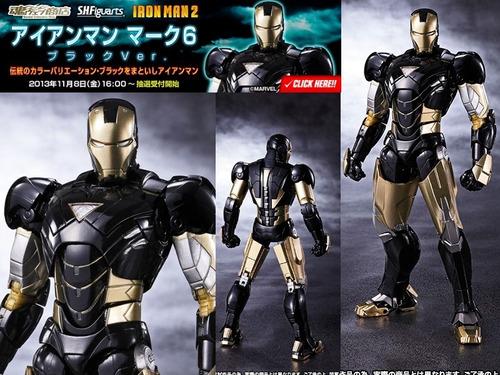 iron man mk6 black avengers marvel figuarts bandai