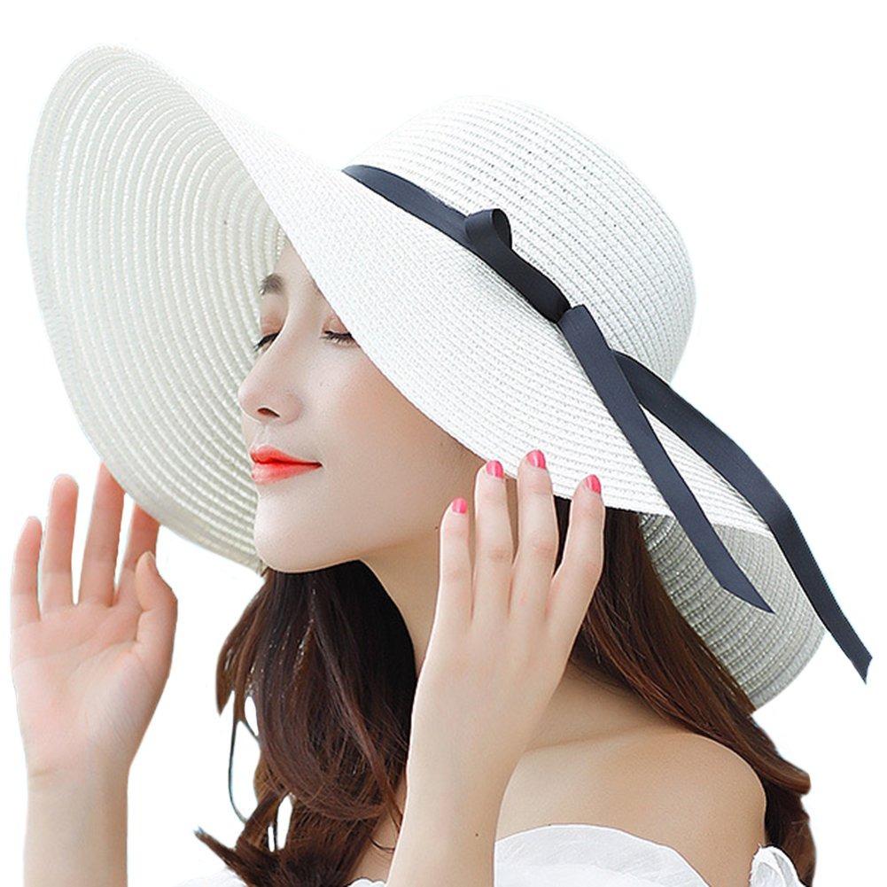 4e2128f858dfa itopfox sombrero de ala grande para mujer sombrero de paj. Cargando zoom.