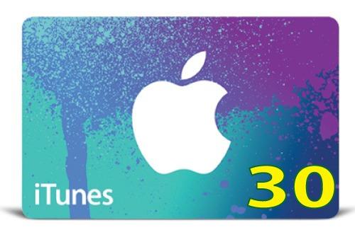 itunes gift card original código valor 30 usd usa