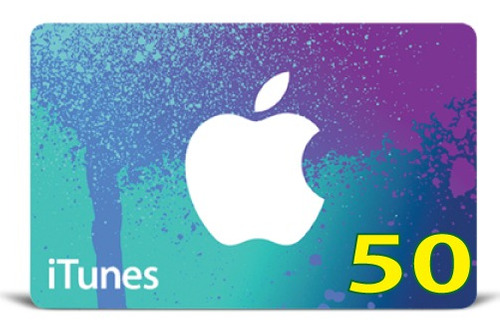 itunes gift card original código valor 50 usd usa