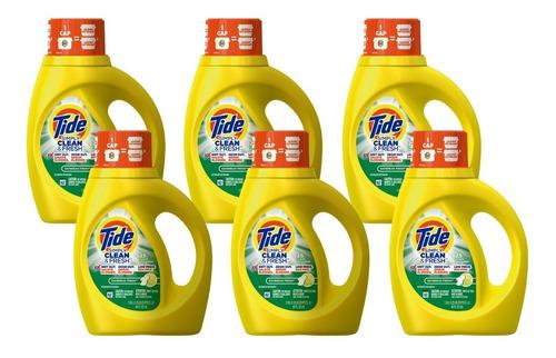 jabón lavar ropa tide 1.18l x 6 = superpack ahorro 50%