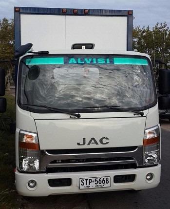 jac 1063 c/ furgón isopanel o aluminio de 5.9x2.4x2.1 + iva