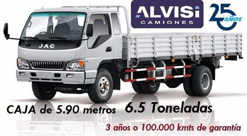 jac 1083 caja de 5.90 metros carga 6.5 toneladas + iva