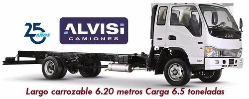 jac 1083 chasis cab. 6.20 carrozable carga 7.5 ton. + iva