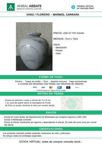 jarron / florero / vaso / marmol carrara