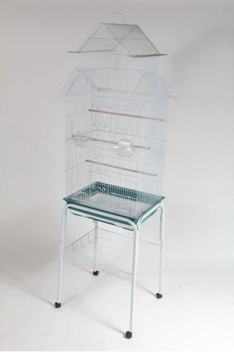 jaula para pájaros 47x36x100 cm + base con ruedas + envío