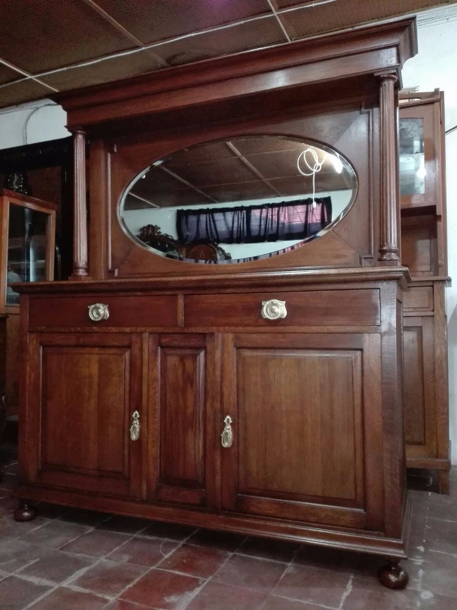 J c antiguo mueble aparador en roble c espej estilo - Muebles estilo antiguo ...