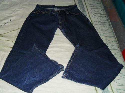 jean azul oscuro talle 36 tiro bajo con botones-oxford