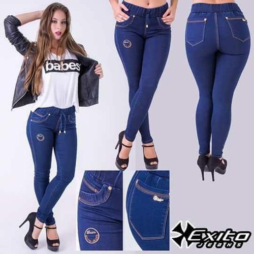 jeans damas talles 36 al 46 con cintura elastica hermosa cal