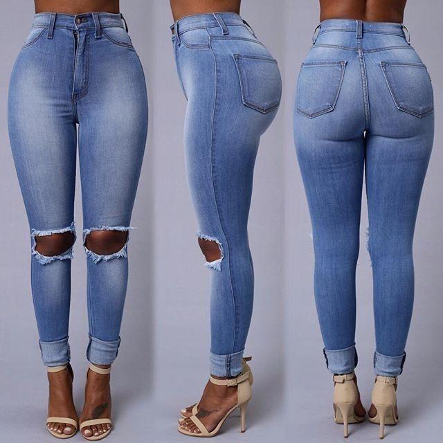 89d4e9a1e1c81 Jeans Rotos Varios Modelos (por Encargue) - U S 84