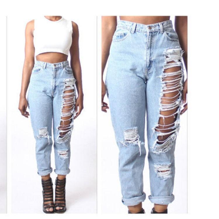 033499939888e Jeans Tiro Alto Y Rotos!!! (por Encargue) - U S 77