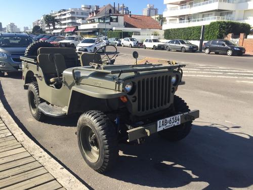 jeep willys mb 1942 4x4 original restaurado - oportunidad!!