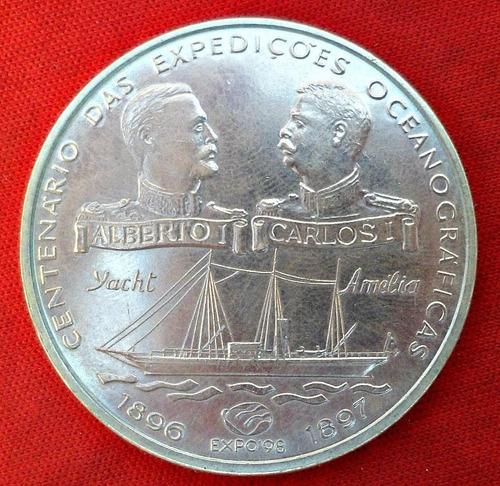 jm* portugal plata 1000 escudos 1997 - unc 40 mm