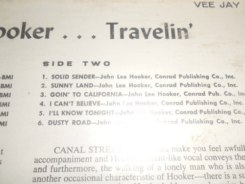 john lee hooker  lp. de 12 travelin